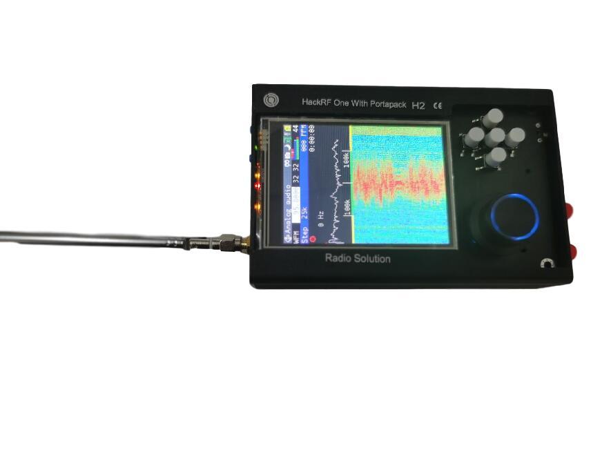 2021 PORTAPACK H2 + HACKRF ONE SDR Radio + Havoc Firmware + 0.5ppm TCXO GPS + 3.2 inch Touch LCD + 1500mAh Battery + Metal Case tcxo clock clk ppm 0 1 tcxo clock oscillator module for hackrf one sdr aluminum shell case
