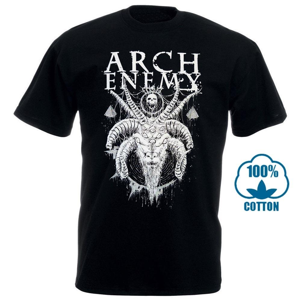 Arco inimigo com chifres cabra camisa s m l xl xxl officl morte metal t camisa banda tshirt