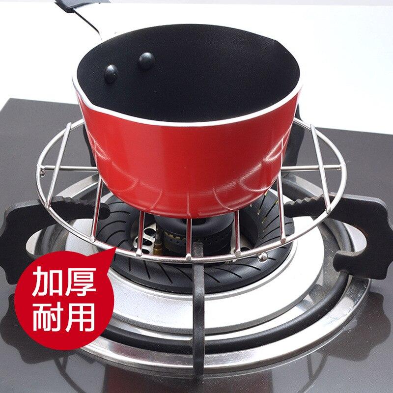 Estantes para ollas de leche, estufa de Gas, estante auxiliar para ollas, accesorios de cocina de Gas General, soporte de olla de Medicina de acero inoxidable, zheng jia