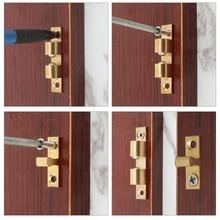 10 шт., защелка для дверных шкафов и шкафов, пружинная защелка, латунная защелка для дверных замков, сенсорная нажимная защелка для дверных шк...
