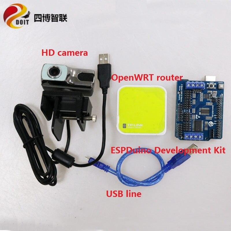 Kit de transmisión de Video SZDOIT + Placa de desarrollo ESPDuino Suite control remoto de cámara de monitoreo RC Robot parte para Arduino