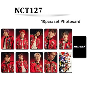 10pcs/set Fashion NCT127 Album photocard HD photo Double-side print K-pop NCT High quality lomo card for fans collection kpop