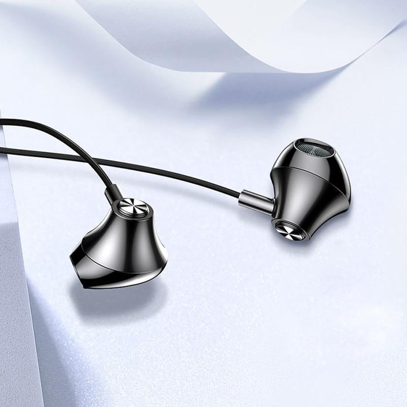 TOTU para auriculares de 3,5mm Jack auriculares con cable en la oreja auricular con Control en cable para Huawei Xiaomi Sony UMIDIGI Blackview