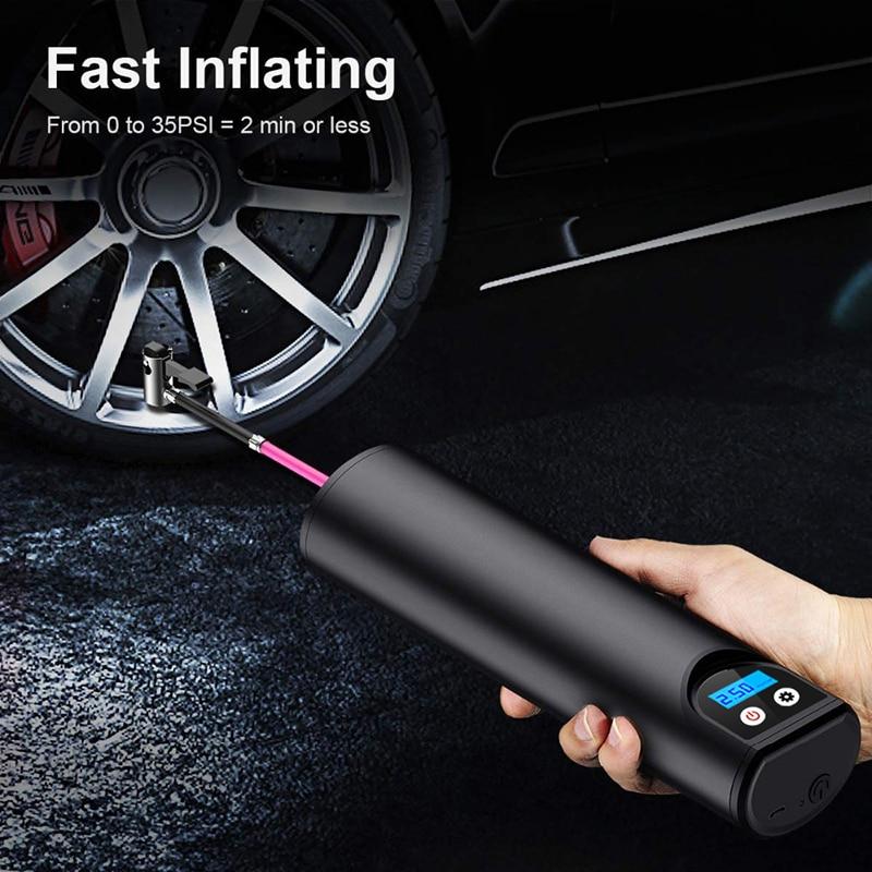 12 v 150psi bomba de ar elétrica portátil mini pneus inflator cordless handheld inflável pneu inflator para moto