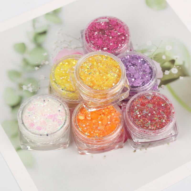 18 Colours Diamond Shimmer Sequins Glitter Eyeshadow Makeup Nail Art Mermaid Cosmetics Mat Party Mak
