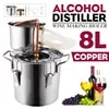 יעיל 8L יין בירה אלכוהול Distiller Moonshine אלכוהול בית DIY מתבשל ערכת בית נחושת מזקק ציוד