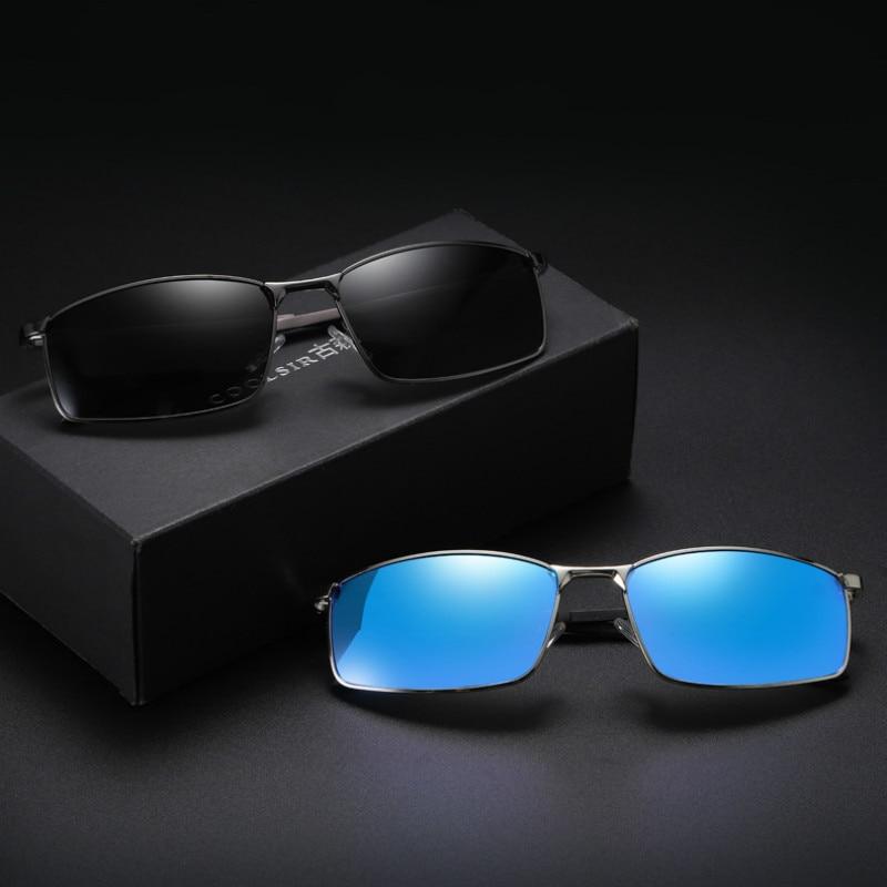 Men's Sunglasses European and American Style Driving Fishing Sunglasses Aluminum Feet Polarized Glas