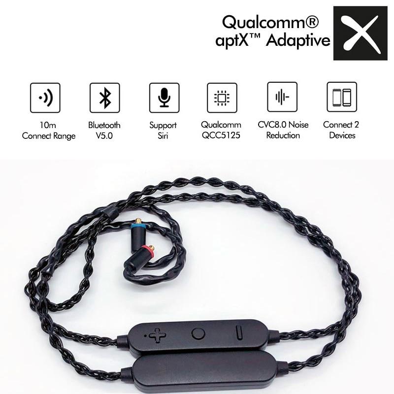 QCC5125 USB-C بلوتوث 5.0 عالية الدقة سماعة كابل Aptx التكيف/HD الألعاب سماعات الأذن لا تزامن استبدال سلك