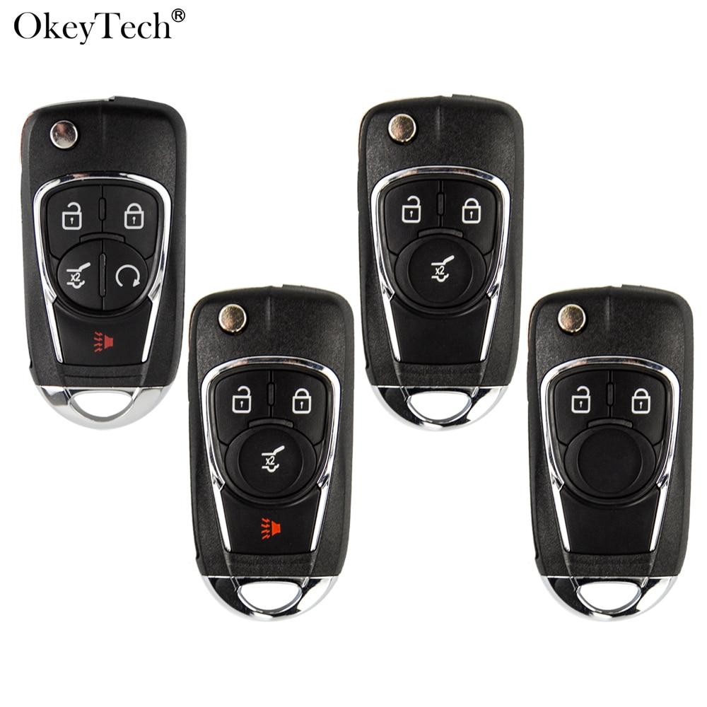 Okeytech Fob Flip modificado de la llave del coche caso para Chevrolet Cruze Lova navegar Aveo para Opel Astra H J Corsa E Insignia