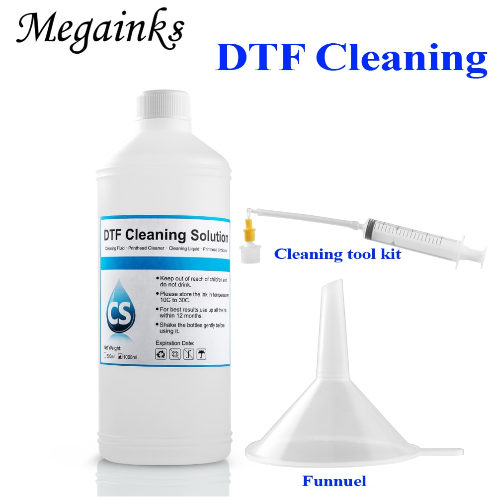 1000 مللي حل تنظيف DTF لإبسون DX3 DX4 DX5 DX7 DX9 لإبسون L1800 L805 L800 1390 I3200 DTF حبر (حبر نسيج) تنظيف