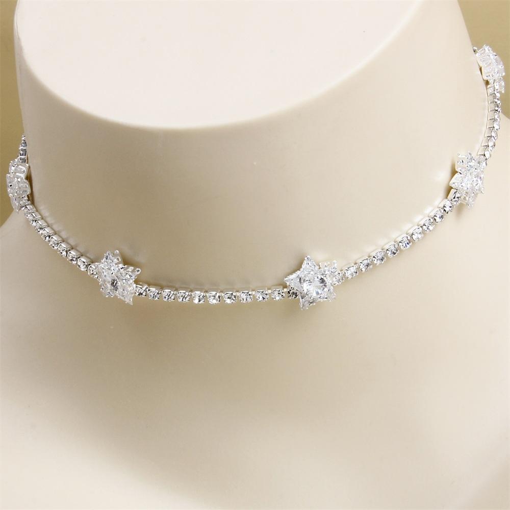 Stonefans, nuevo Collar gargantilla de flores de cristal para mujeres, joyería Simple de oro, declaración de diamantes de imitación, Gargantilla, Collar, cadena de tenis