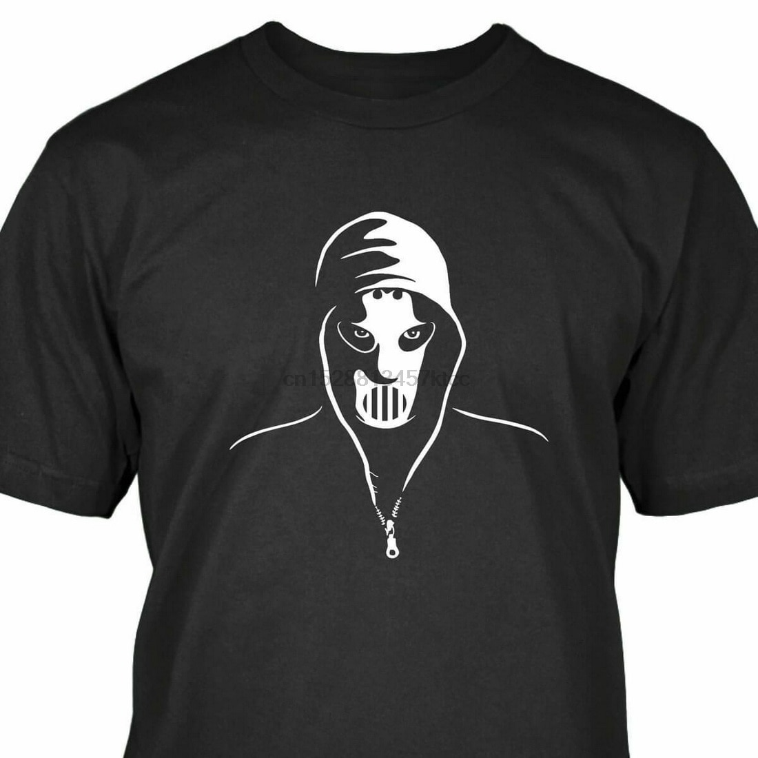 Angerfist Tops Tee T Shirt Hardcore Techno Gabber Moh T-Shirt Cotton Short Sleeve