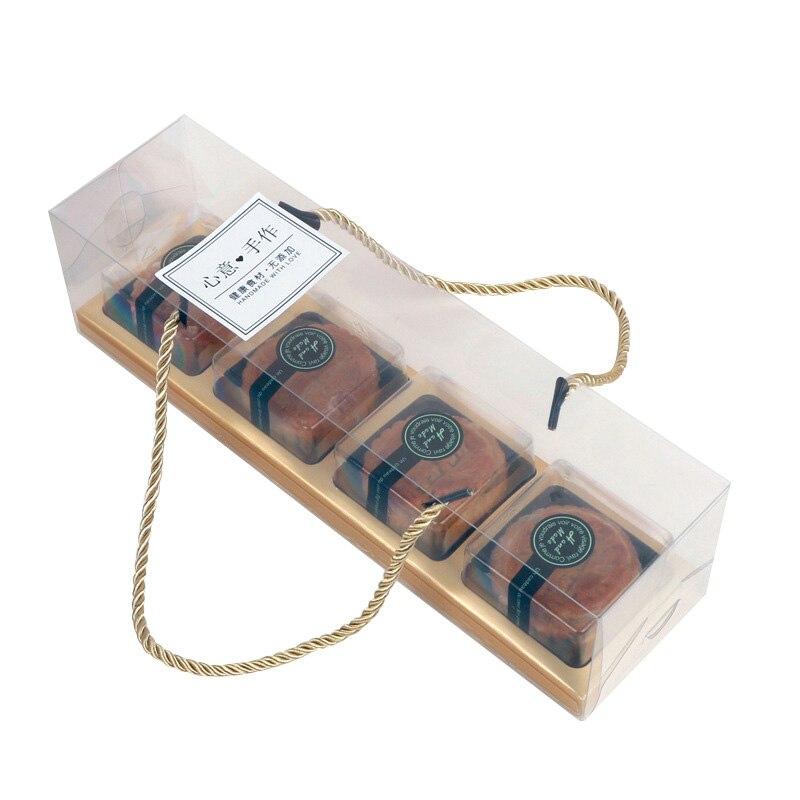 Transparente Cupcake Kuchen Boxen Kunststoff Danke Favor Geschenk Box Party Kuchen Display Containter Trays Verpackung Favor Boxen Halter