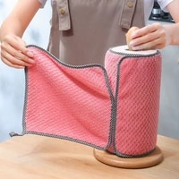 5pcs household kitchen rags gadgets microfiber towel cleaning cloth non stick oil thickened cleaning cloth can absorb washing