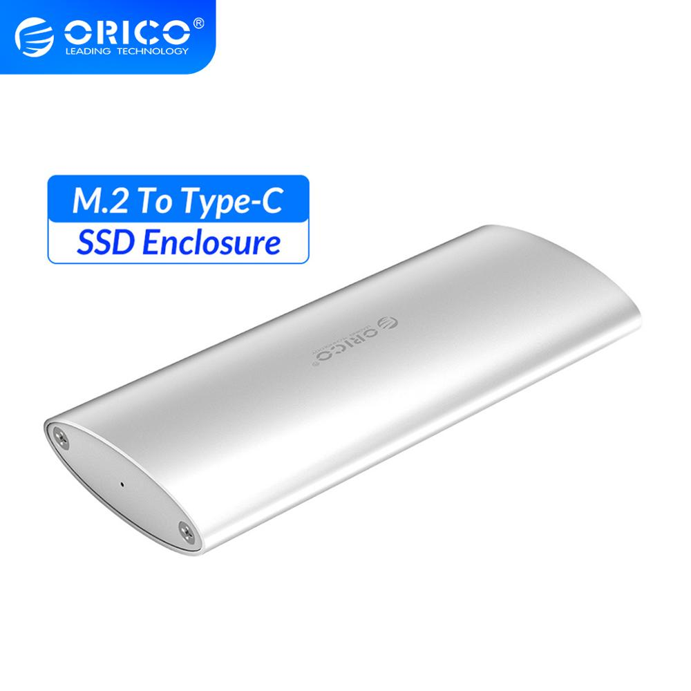 ORICO M.2 to USB3.1 Type-C USB3.0 SSD Enclosure Card Converter Adapter External Aluminum SSD Case for 2230/2242/2260/2280