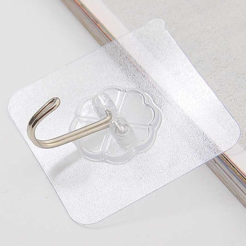6 * 6 tiszta nano-ragasztó erős átlátszó tapadókorong horog, - Szervezés és tárolás - Fénykép 5
