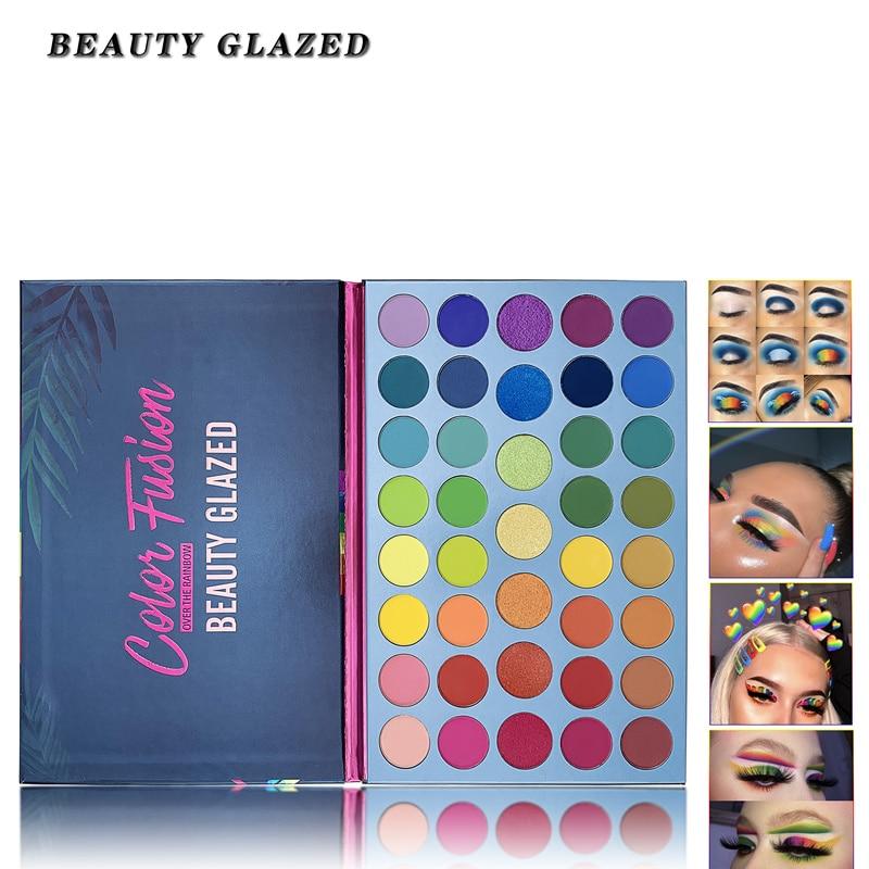 Paleta de sombras de ojos marca nueva 100% Original Beauty Glazed 39 colores brillo mate disco de arco iris fluorescente resalte sombra de ojos