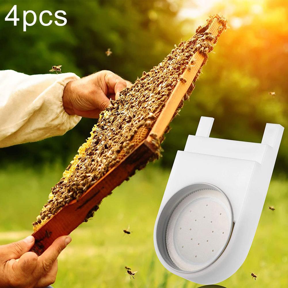 4 pçs de plástico abelha colmeia ninho entrada alimentador água potável placa apicultura ferramenta boardman alimentador apicultura suprimentos apicultura
