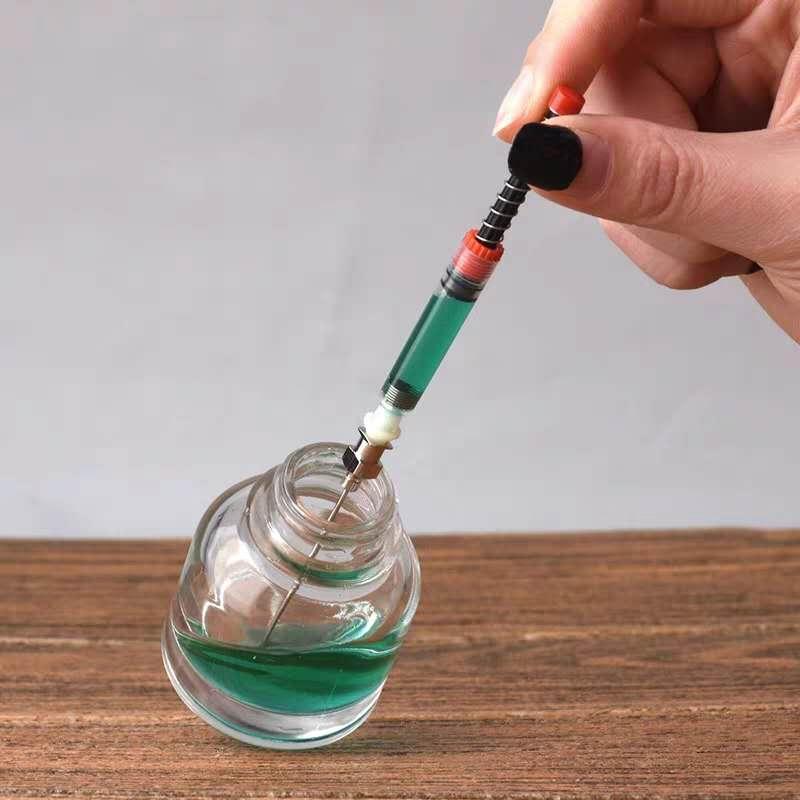 Rellenador de cartucho de tinta Moonman Hongdian, pluma estilográfica, dispositivo de succión, herramienta de instrumentos, papelería, suministros para oficina y escuela