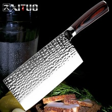 XITUO nóż szefa kuchni ze stali nierdzewnej kucie Anti-stick ostry tasak ryby warzywa chiński nóż kuchenny narzędzia kuchenne gospodarstwa domowego
