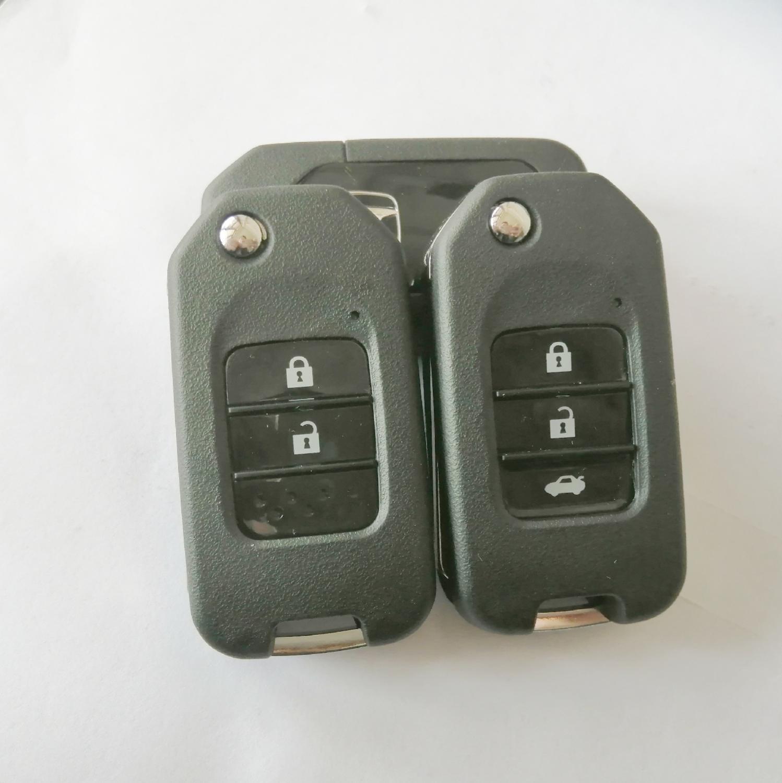 With Logo Folding Car Key Flip Key Shell Stying Cover Case 2/3 Button Remote Key Cover Smart Key Case For Honda CRV New Accord