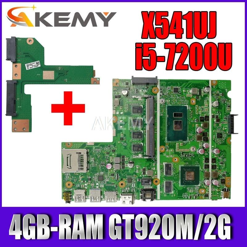 اللوحة الأم X541UVK اللوحة الرئيسية لشركة آسوس X541UVK X541UJ X541UV X541U F541U اللوحة الأم للكمبيوتر المحمول ث/4GB RAM/I5-7200U/AS GT920M/V2G