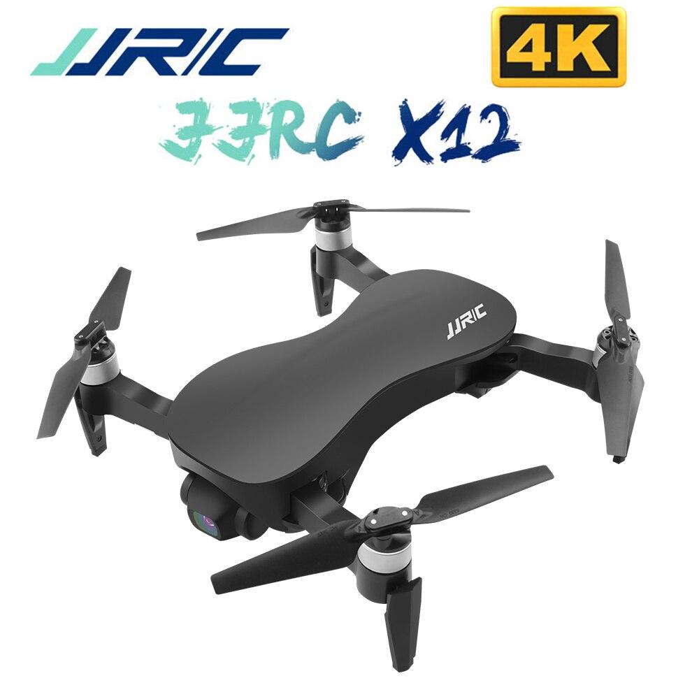Jjrc x12 4 k motor brushless rc zangão wifi 1 km fpv hd câmera anti shake 3 eixo cardan quadcopter vs x8 rc helicóptero brinquedos dron
