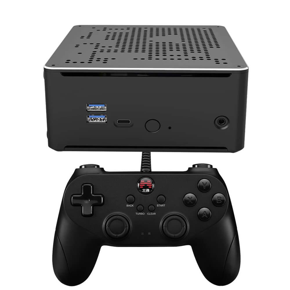 Kinhank سوبر وحدة التحكم X صندوق الكمبيوتر ريترو لعبة فيديو وحدة التحكم و جهاز كمبيوتر صغير بناء في 62000 ألعاب دعم PS1/PS2/تيار مستمر/N64/وي 80 + محاكي