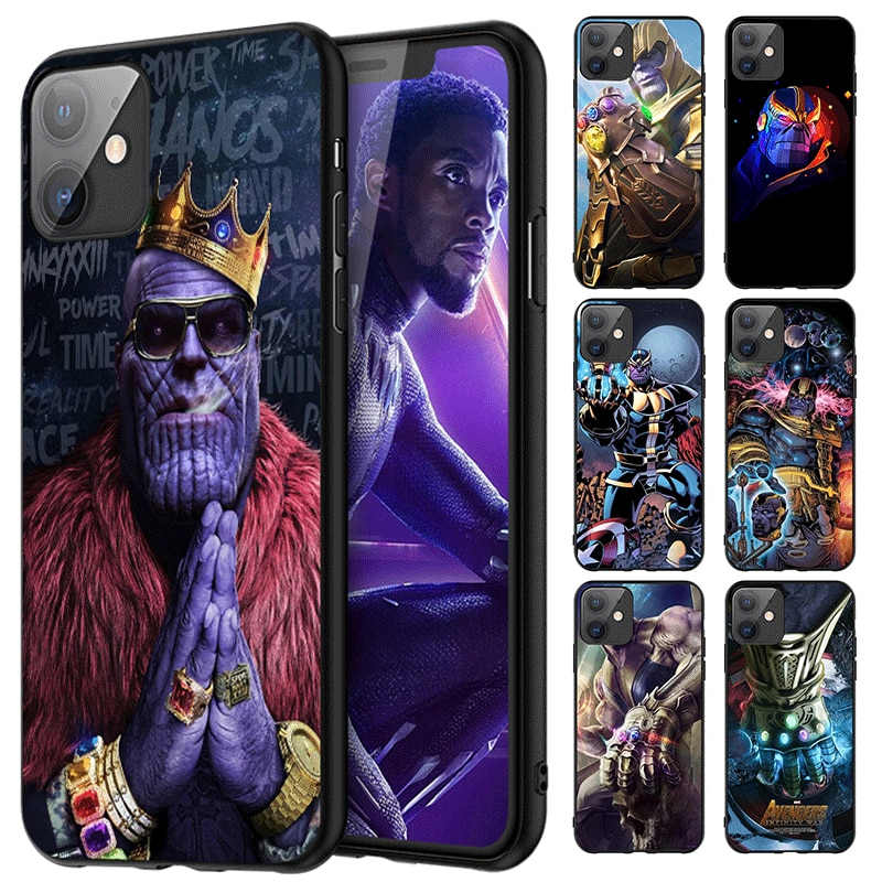 Bricolaje teléfono caso para iPhone XR 5 5s se 6 6s 7 8 Plus X XS X Max 11 Pro Max SE 2020 linda foto TPU Thanos Marvel