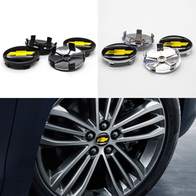 Автомобильные запчасти 4 шт. 60 мм ступицы колеса крышка центра колеса стикер автомобильный брелок с логотипом, подходит для Chevrolet-Персонализ...