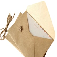 50pieces Rough grain gift card DIY Multifunction Kraft paper envelope 16*11cm Gift card envelopes for wedding birthday party