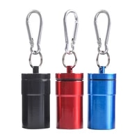 aluminium alloy cigarette ashtray portable outdoor travel ash holder pocket tray with lid key chain mini storage box