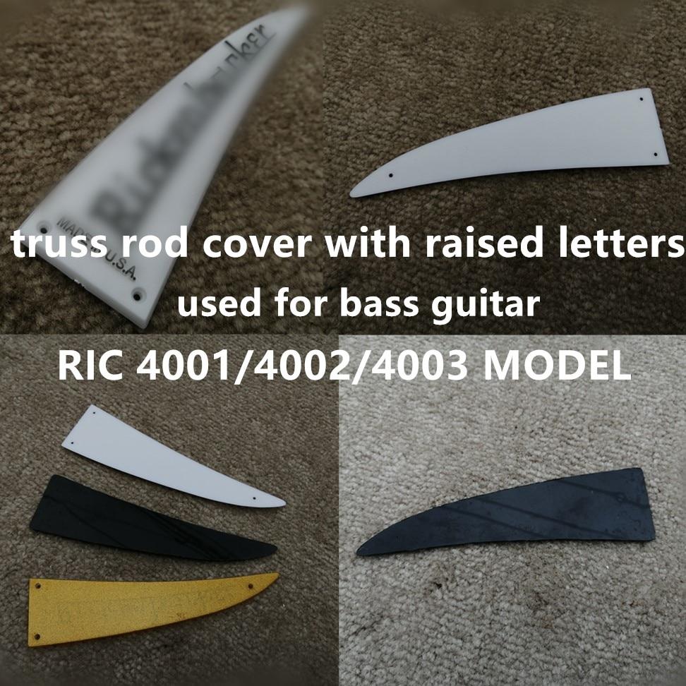 Oferta, funda de varilla de braguero con letras elevadas, bajo guitarra, modelo ric, estilo 4001/4002/4003, negro, blanco. Envío Gratis