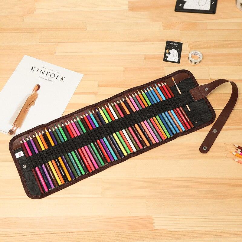 36/48 colorido escola lápis caso com lápis conjunto para meninas menino desenho pintura pencilcase óleo caneta kit papelaria cartucho saco