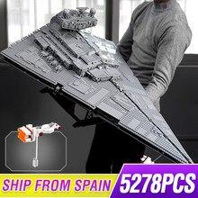 81098 Star toys Wars ultime série de collection 5278 pièces Max impérial étoile destructeur vaisseau spatial blocs de construction brique 75252