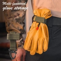 multi purpose nylon glove hook military fan outdoor tactical gloves climbing rope storage adjust camping glove hanging buckle
