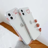 jane love couple phone case for iphone xr xsmax x 11 pro max 12 mini 7 8 plus cute silicone cover conque shell