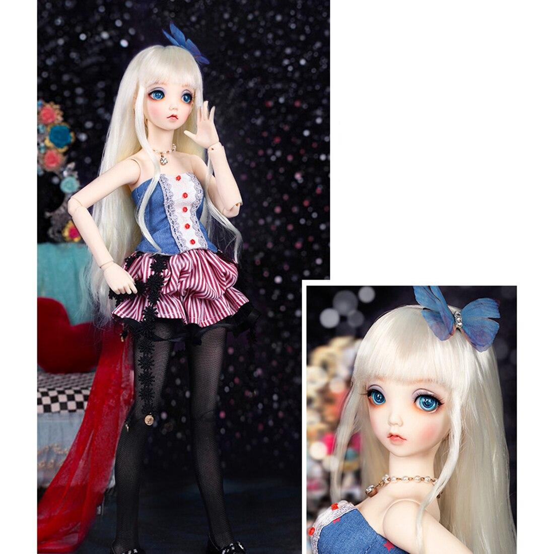 Nuevas muñecas BJD 40cm 1/4 Mio bola femenina desnudo con articulaciones Baby Doll conjunto completo de disfraces con maquillaje y ojos