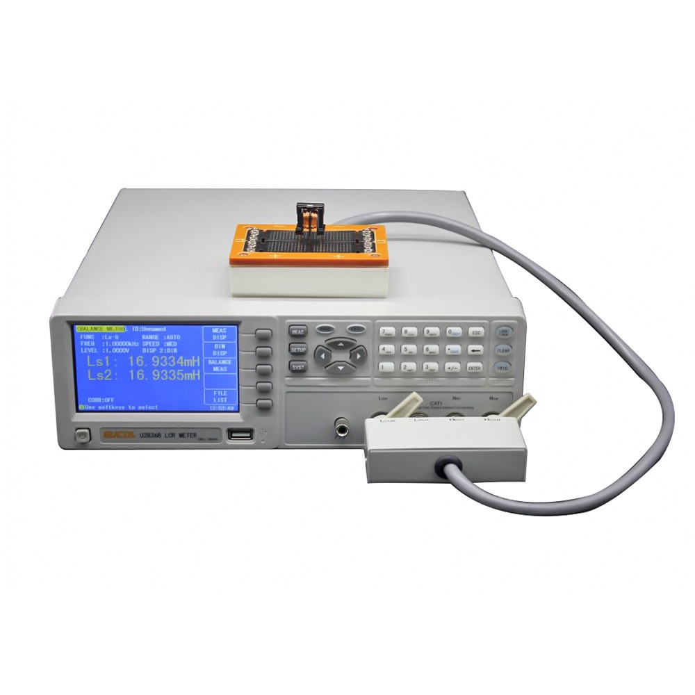 جسر كهربائي U2836B ، جهاز اختبار التوازن ، دقة 50- 200 كيلو هرتز ، مقياس LCR رقمي لسطح المكتب ، مرشح ، 0.05%