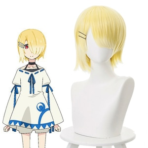 Anime Maou Sama Retry Cosplay Wigs Aku Cosplay Wig Heat Resistant Synthetic Wig Hair Halloween Party Game Women Cosplay Wigs