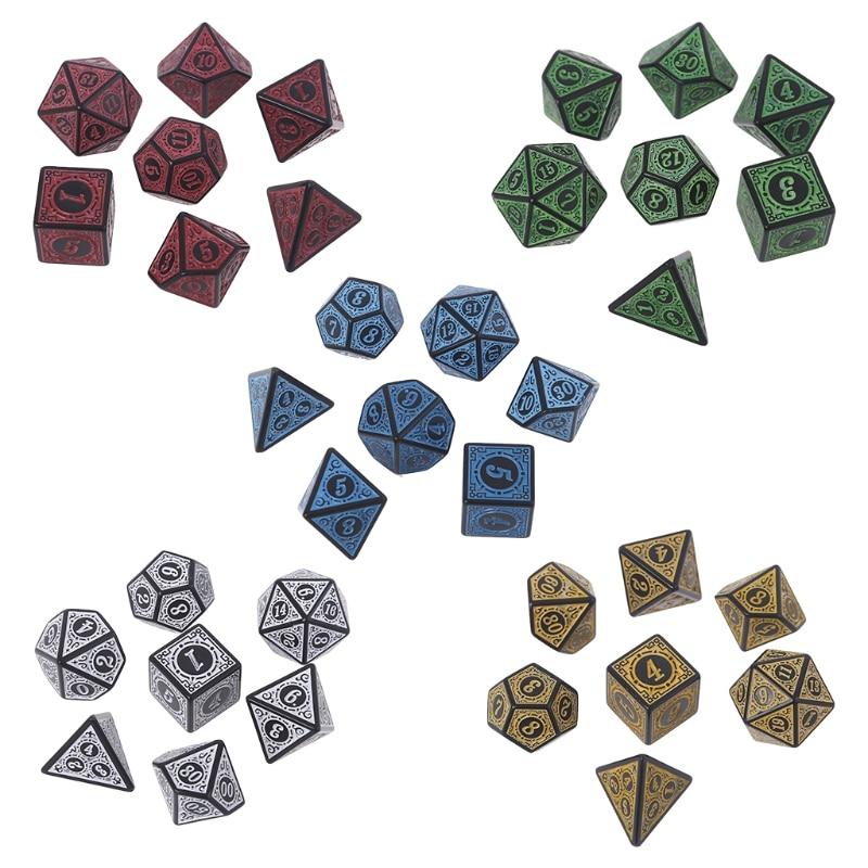 Разноцветные каучуковые граненые цифровые кубики с цифрами, различные формы для детских игрушек