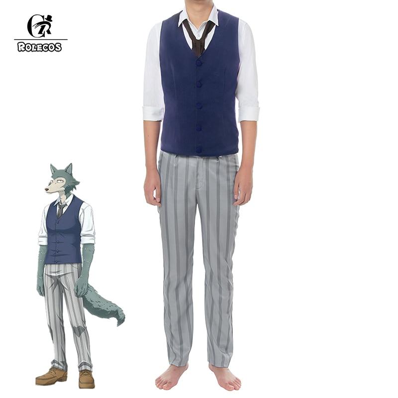 Roelcos anime beastars cosplay traje lobo legoshi cosplay masculino traje uniforme escolar