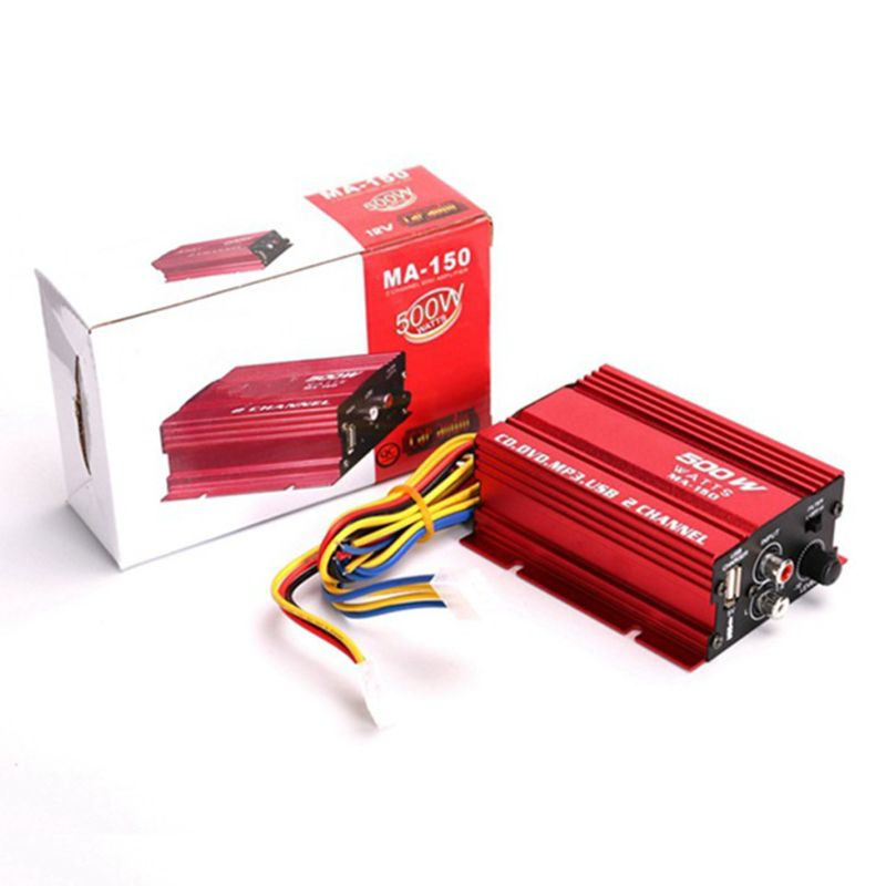 Mini amplificador estéreo Hi-Fi para coche y motocicleta, 18W, 2 canales, N84F