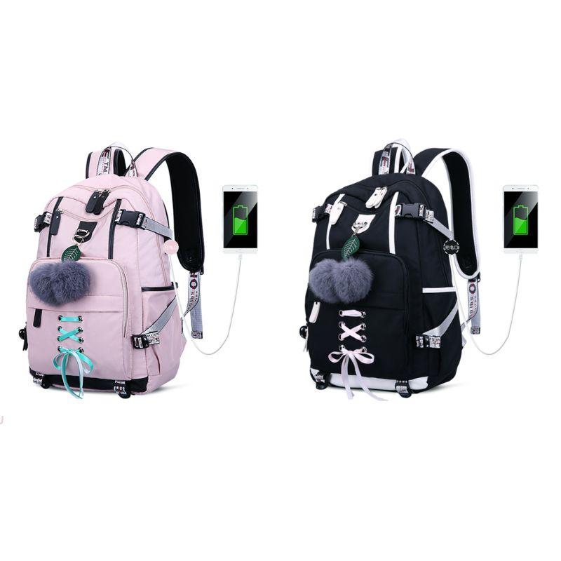 New Laptop Women Backpack Large Capacity USB Charge Port Computer Daypack Anti-theft School Bag for Teenage Girls shenhu 2019 new laptop women backpack external usb charge computer backpacks anti theft waterproof school bag for teenage girls