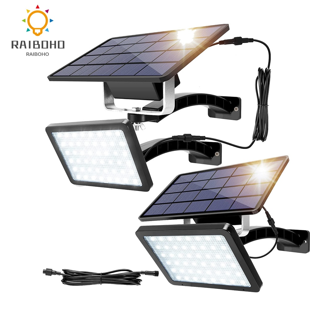 1000 Lumens 48 LED Solar Lights Outdoor 5500mAh olar Powered Porch Lights Auto Dusk to Dawn Security Lighting for Front Door
