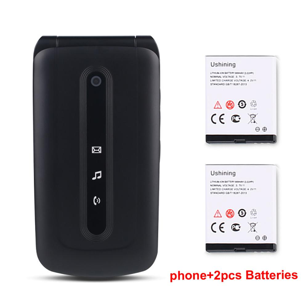 2G Mobile Phone for Seniors with 2 batteries SOS Big Button Unlock Dual SIM Standby Quick Dial Key Easy-to-use phone for Elderly enlarge