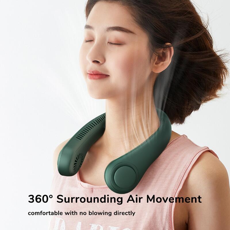 2021 mini ventilador sem bladeless pescoço ventilador 4000mah usb recarregável ventilador mudo esportes ventiladores para casa ao ar livre portatil abanicos