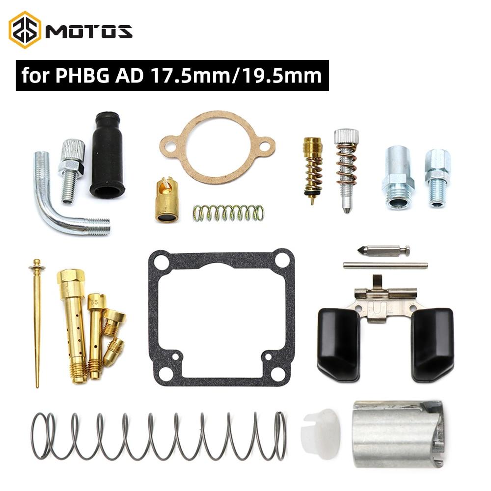 Zs motos kit de reparação gaxeta carburador para dellorto phbg/ad corrida carb incluindo flutuador agulha jatos mola carb kits reparação