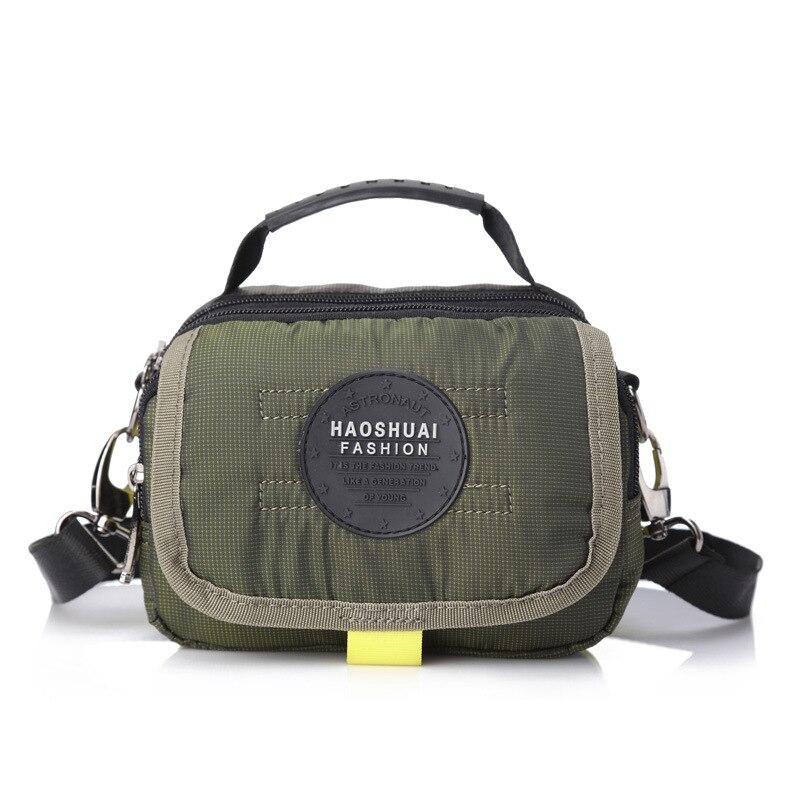 حقيبة كروس للرجال من النايلون ، حقيبة كتف صغيرة ذات سعة كبيرة ، نمط عسكري ، كاجوال ، عصرية