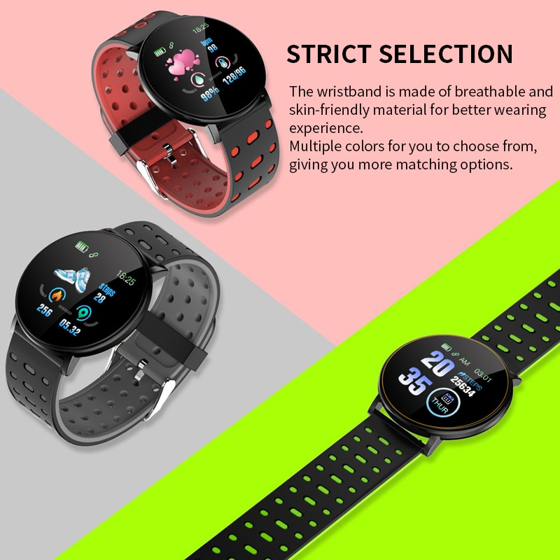 SHAOLIN 19 Smart Bracelet Heart Rate Smart Watch Man Wristband Sport Watches Band Waterproof Smartwatch Android With Alarm Clock